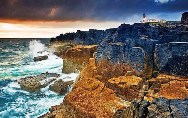 Scotland Neist point rocks