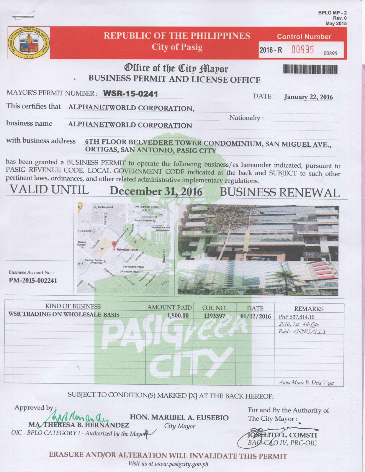 mayors permit