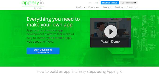Appery.io Solusi Tepat Untuk Membuat Apps Tanpa Coding