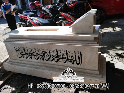 Model Makam Uje Marmer, Model Makam Muslim Terbaru, Kijing Makam Marmer