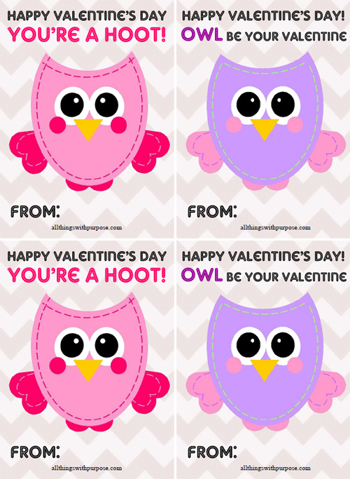 My Owl Barn Printable Valentine Activity Pack