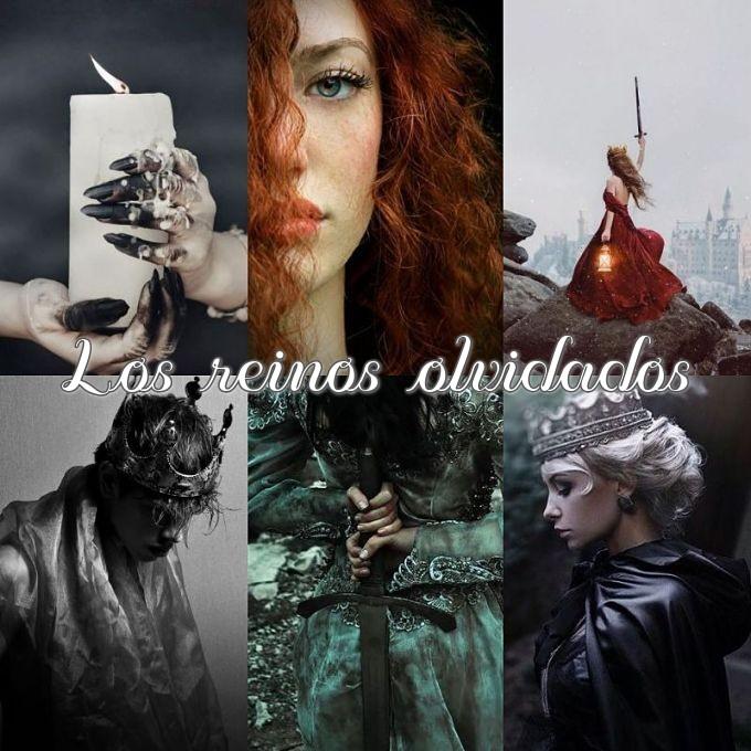 Collage hecho por Romances encontrados del libro Los reinos olvidados de Paula Ramos