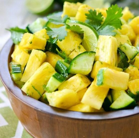 Pineapple Cucumber Lime Salad #desserts #summer