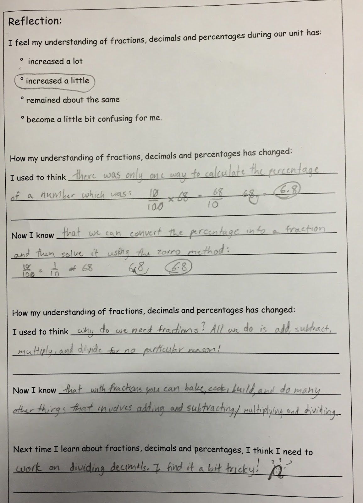Enquiry Based Maths Positive Maths Assessments Fractions Decimals