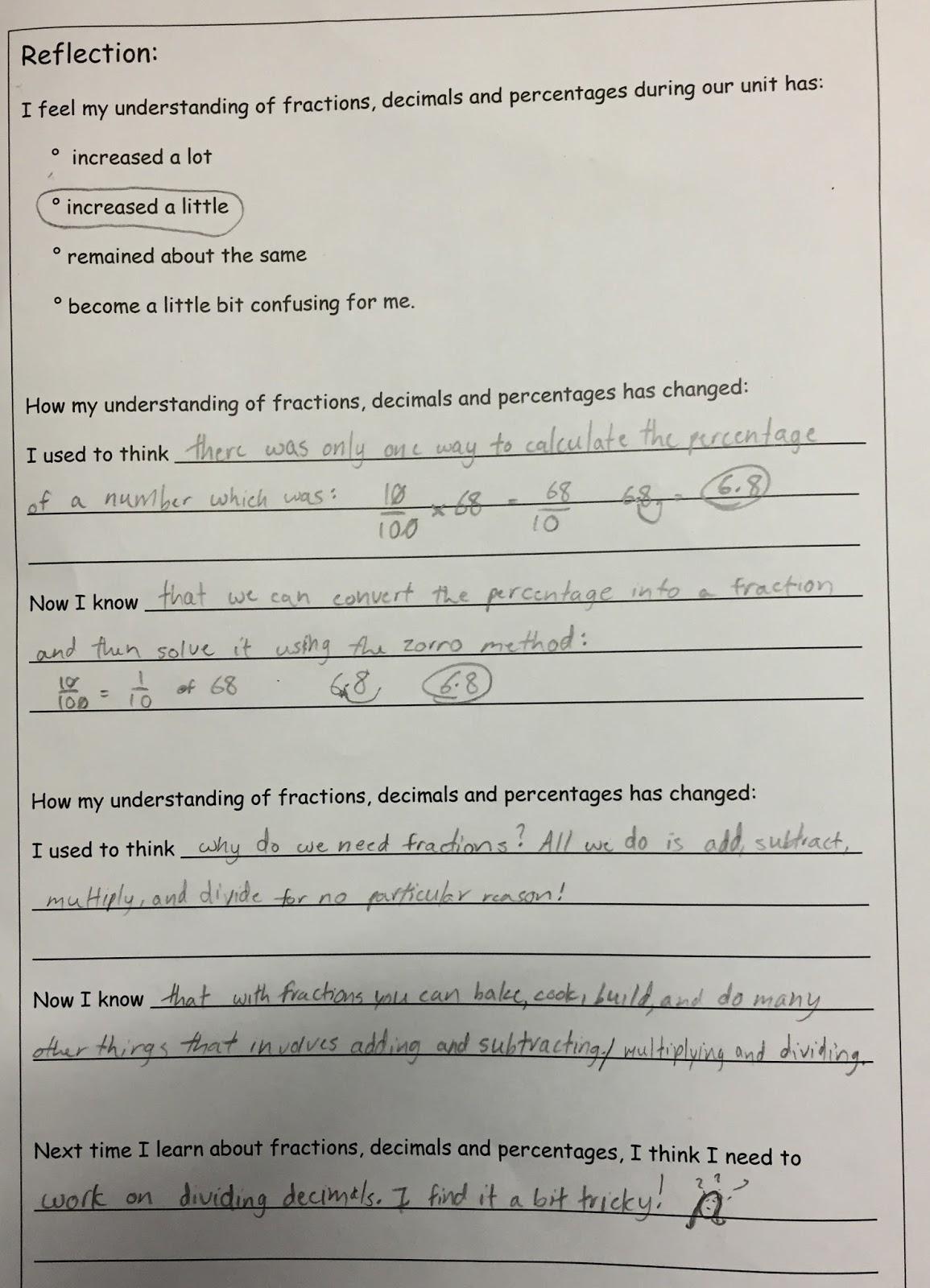 Enquiry Based Maths Positive Maths Assessments Fractions Decimals