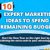 10 Ideas to Spend Remaining Marketing Budget Wisely #infographic