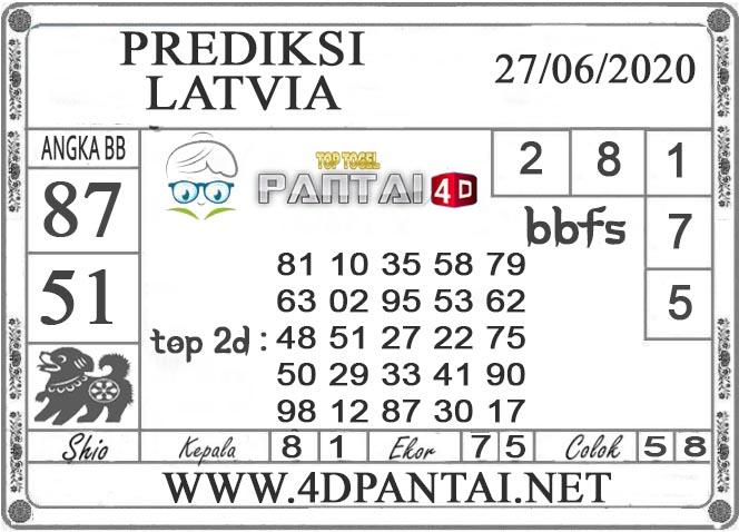 PREDIKSI TOGEL LATVIA PANTAI4D 27 JUNI 2020