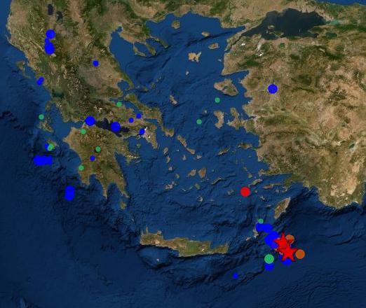 Ισχυρός σεισμός 5,3 Ρίχτερ ανοιχτά της Καρπάθου