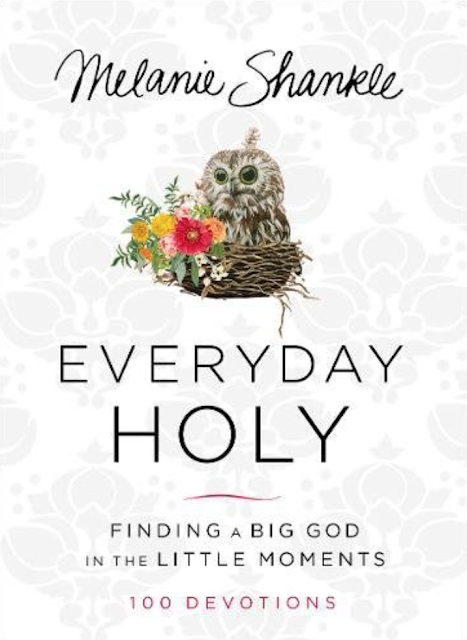 Everyday Holy by Melanie Shankle. A great daily devotional.