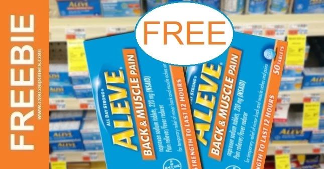 Free at CVS Aleve Pain Reliever 3-21-3-27