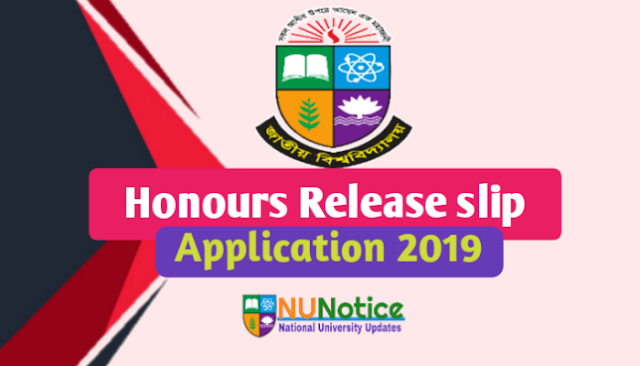 Nu release slip admission application 2019