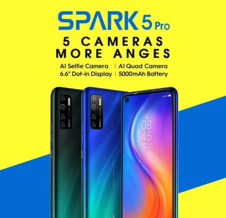 TECNO Spark 5 Pro with 4GB RAM, Quad Camera, and 5,000mAh Battery Now Available at Shopee for Php4,999