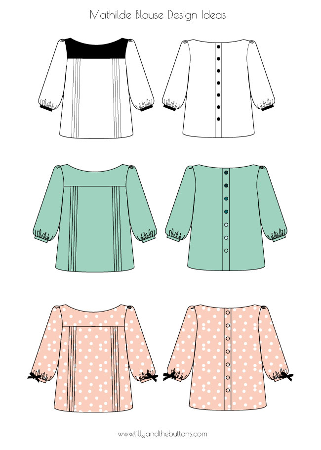 Tilly and the Buttons: Designing Your Mathilde Blouse