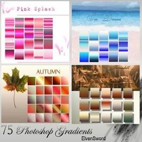 تحميل 75 تدرج متنوع للفوتوشوب مجاناً, Photoshop Gradients free Download, 75 various Photoshop Gradients free Download