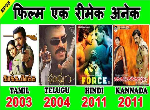 Zakhmi Police (Kaakha Kaakha) Movie & It's All Remake – Force, Gharshana, Dandam Dashagunam | Suriya | John Abraham | Venkatesh | Chiranjeevi Sarja
