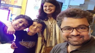 Subodh Bhave with wife majari elder son kanha covid 19 positive