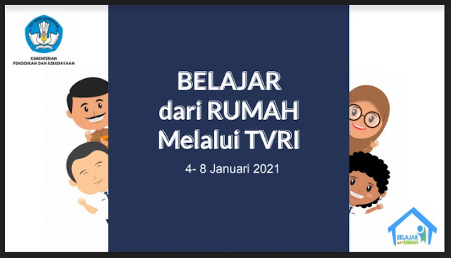 Panduan dan Jadwal BDR di TVRI Minggu Pertama Tahun 2021 (4 – 8 Januari 2021)