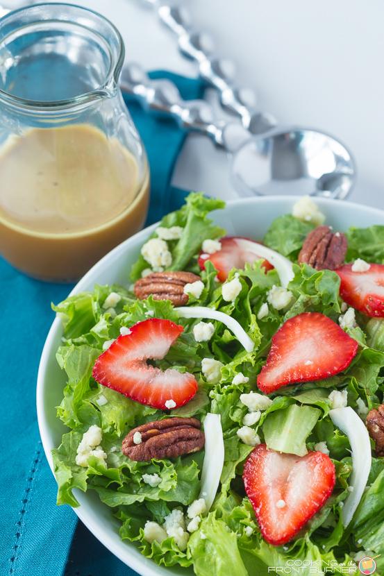 Spring Salad with homemade Orange Vinaigrette