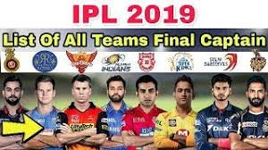 IPL 2019 All team captains