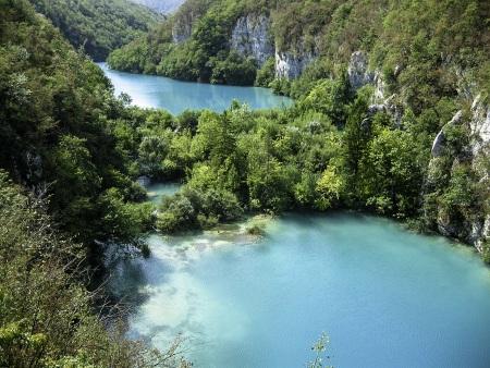 Ezüstszínű tavak Plitvice -nél