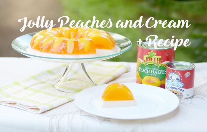 Perfect Summer Treat: Jolly Peaches and Cream + Recipe