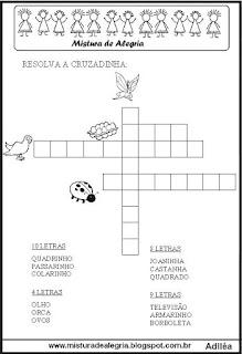 Cruzadinha alfabetização