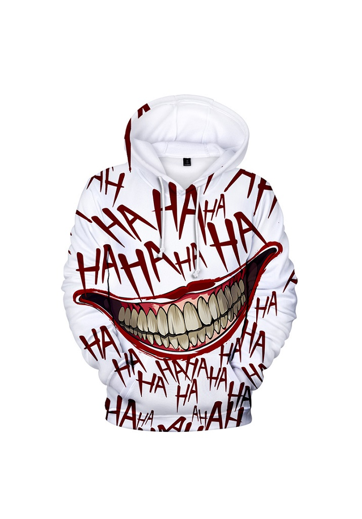 New Style Hoodies HAHA Joker 3D Print Sweatshirt Hoodies Men and women Hip Hop Funny Autumn Streetwear Hoodies