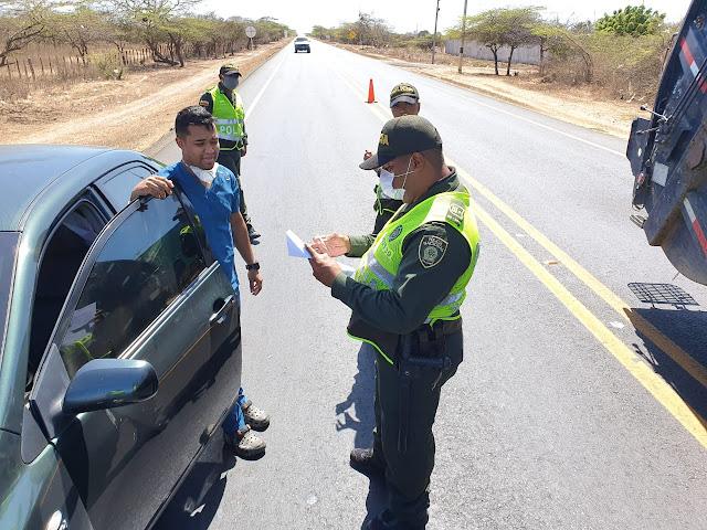 En La Guajira: 437 comparendos por violar el aislamiento obligatorio