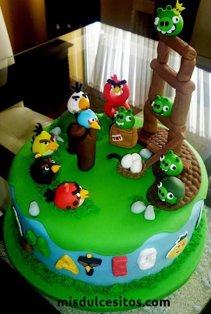 Tortas Angry Birds. Venta de tortas artísticas decoradas. Venta de tortas en Lima, Jesús María, Lince