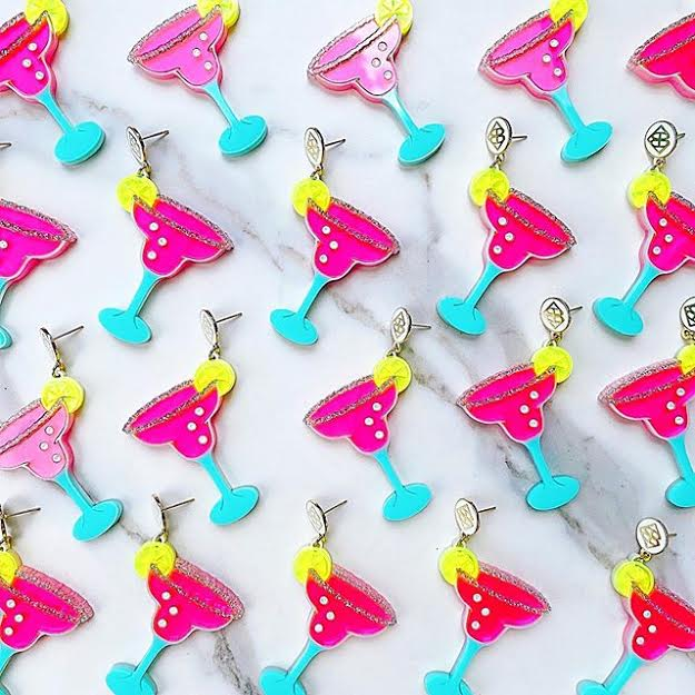 handmade, designed, playful, colorful, party, seasonal, earring, accessories, athomewithjemma.com