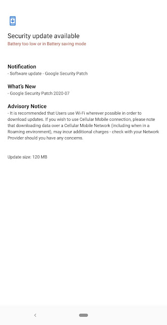 Nokia 5.1 receiving July 2020 Android Security patch