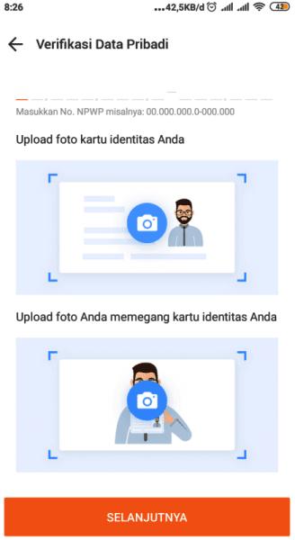 verifikasi data pribadi
