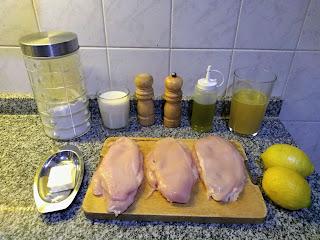 Pechugas De Pollo Con Salsa De Limón