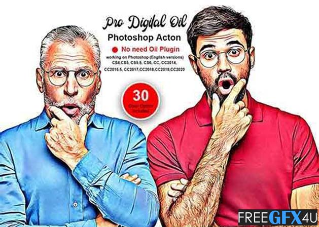 Pro Digital Oil Photoshop Action