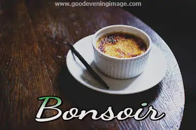 Good evening Image in French language