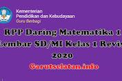 RPP Daring Matematika 1 Lembar SD/MI Kelas 1 Revisi 2020
