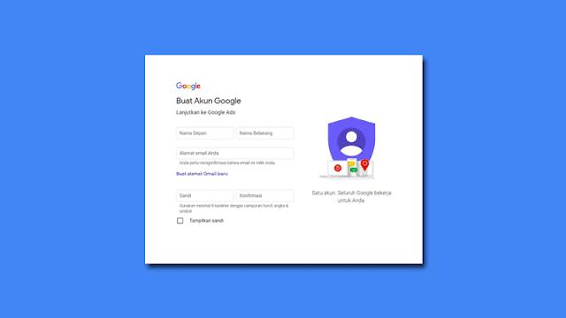 Cara Daftar Akun Google
