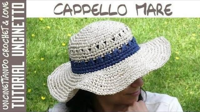 Sombrero Playero en Fibra de Madera a Crochet