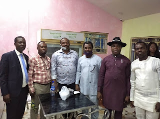 From L-R: O Okorie (Chairman, Abakaliki Branch), U. C Igba (Chairman, Onueke Branch), Emeka Anosike (Financial Secretary, NBA National), Ade Adegbite (National Coordinator, Team DASAN), Festus Nweke (Immediate Past Chairman, Abakaliki Branch), Nnaemeka Nwambam (Secretary, Abakaliki Branch)
