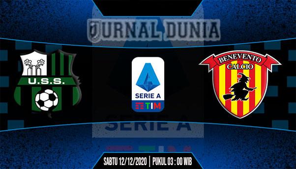 Prediksi Sassuolo Vs Benevento, Sabtu 12 Desember 2020 Pukul 02.45 WIB