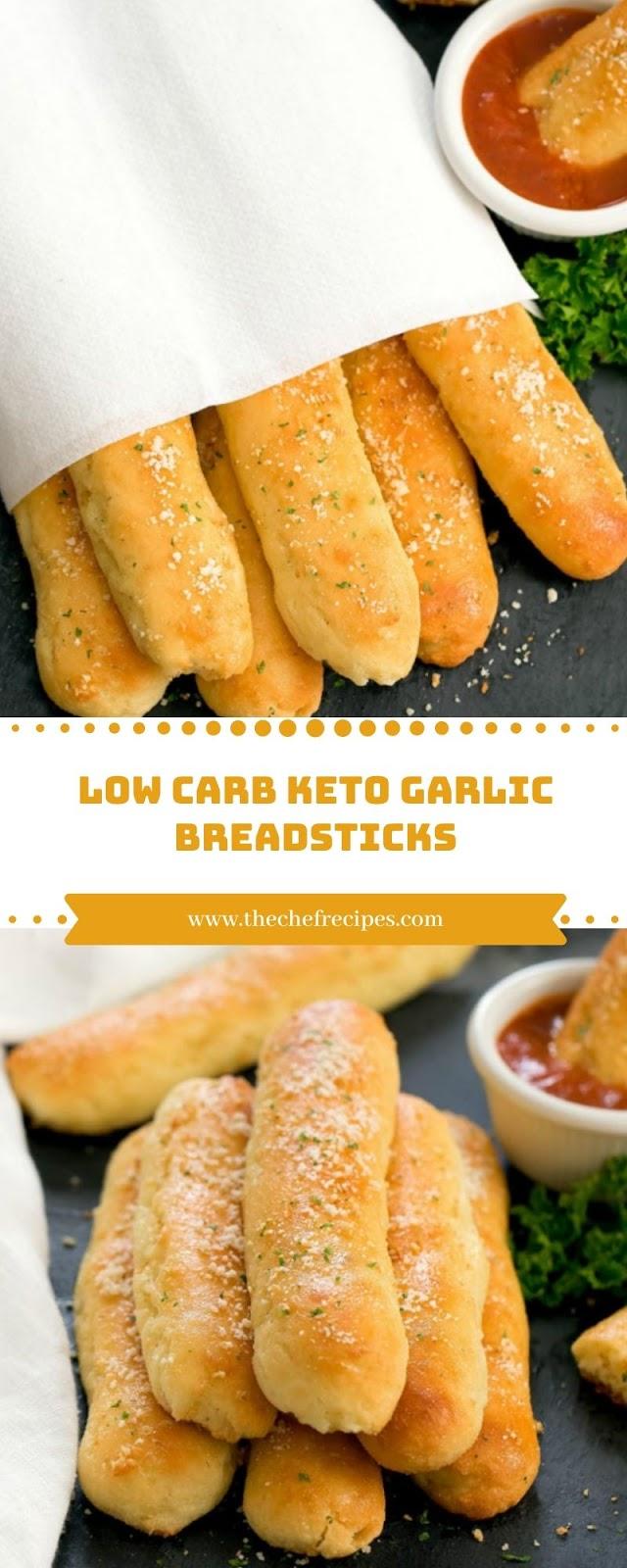 Low Carb Keto Garlic Breadsticks