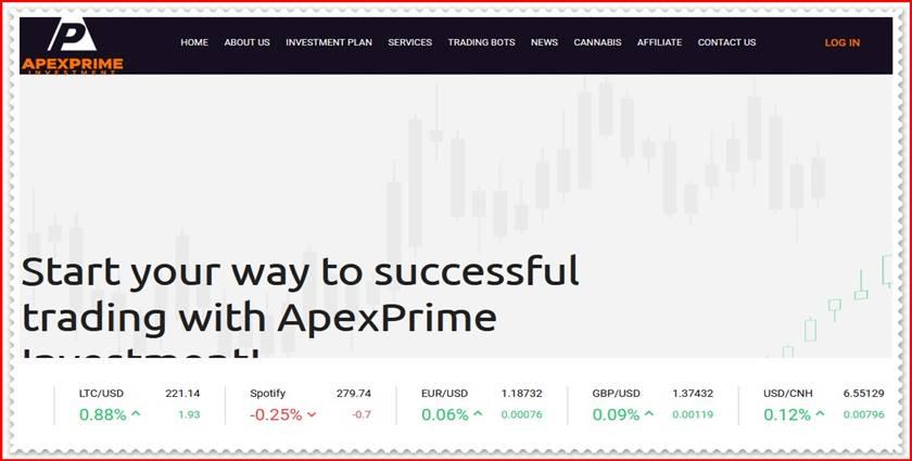 Мошеннический сайт apexprimeinvestment.com – Отзывы, развод, платит или лохотрон? Мошенники
