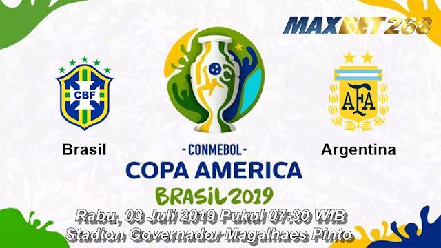 Prediksi Brasil Vs Argentina, Rabu 03 Juli 2019 Pukul 07.30 WIB