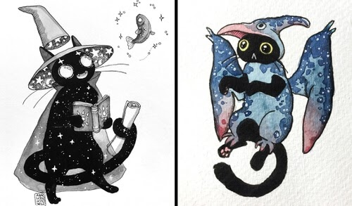 00-Black-Cat-Drawings-Sara-Szewczyk-www-designstack-co