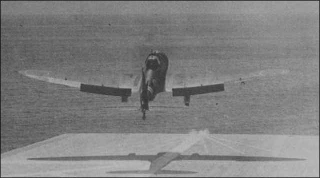A D3A1 taking off from Zuikaku on April 5, 1942. worldwartwo.;filminspector.com