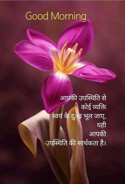 Hindi Good morning Quotes of the day on motivational wish