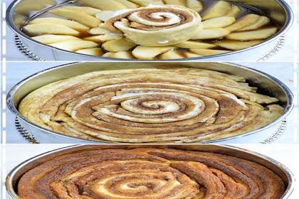 Upside Down Apple Cinnamon Roll Cake