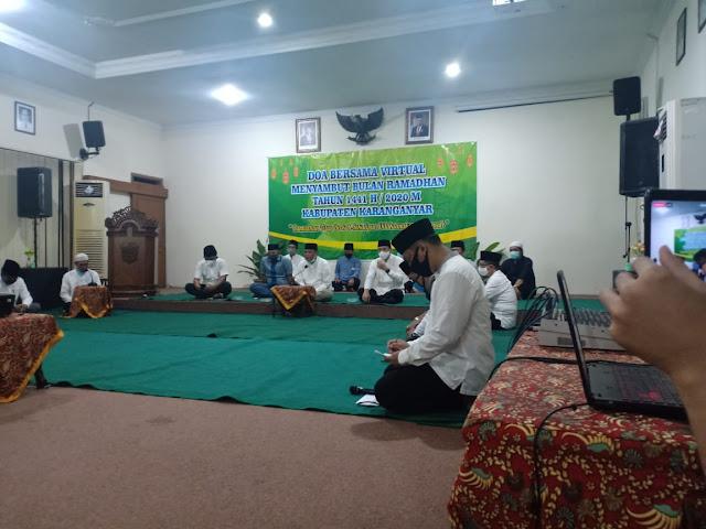 KodimKaranganyar – Do'a Bersama Virtual Menyambut Bulan Ramadhan Tahun 1441 H / 2020 M Kabupaten Karanganyar