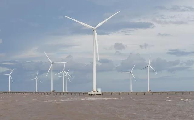 Vietnam's only marine wind farm