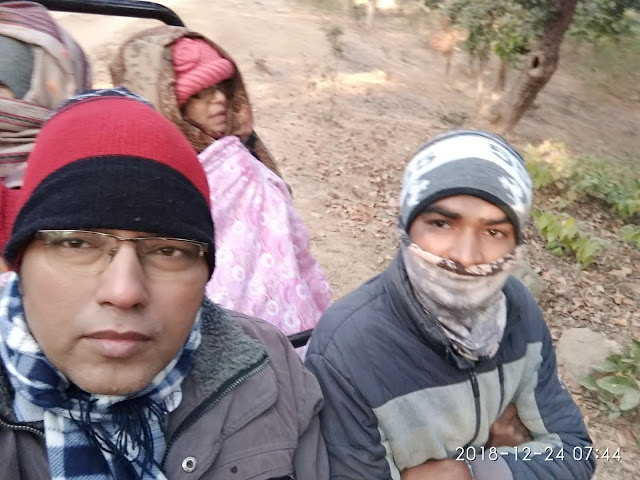 Me with our local guide at Bandhavgarh